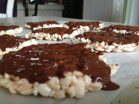 galettes de riz soufflé chocolat chamallows